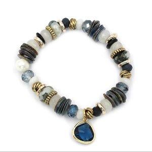Blue natural bracelet